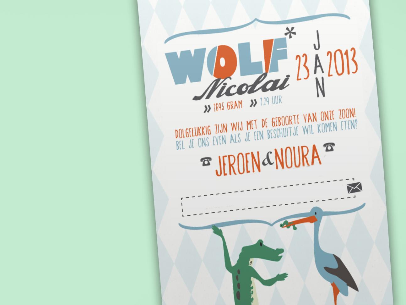 Geboortekaart Wolf
